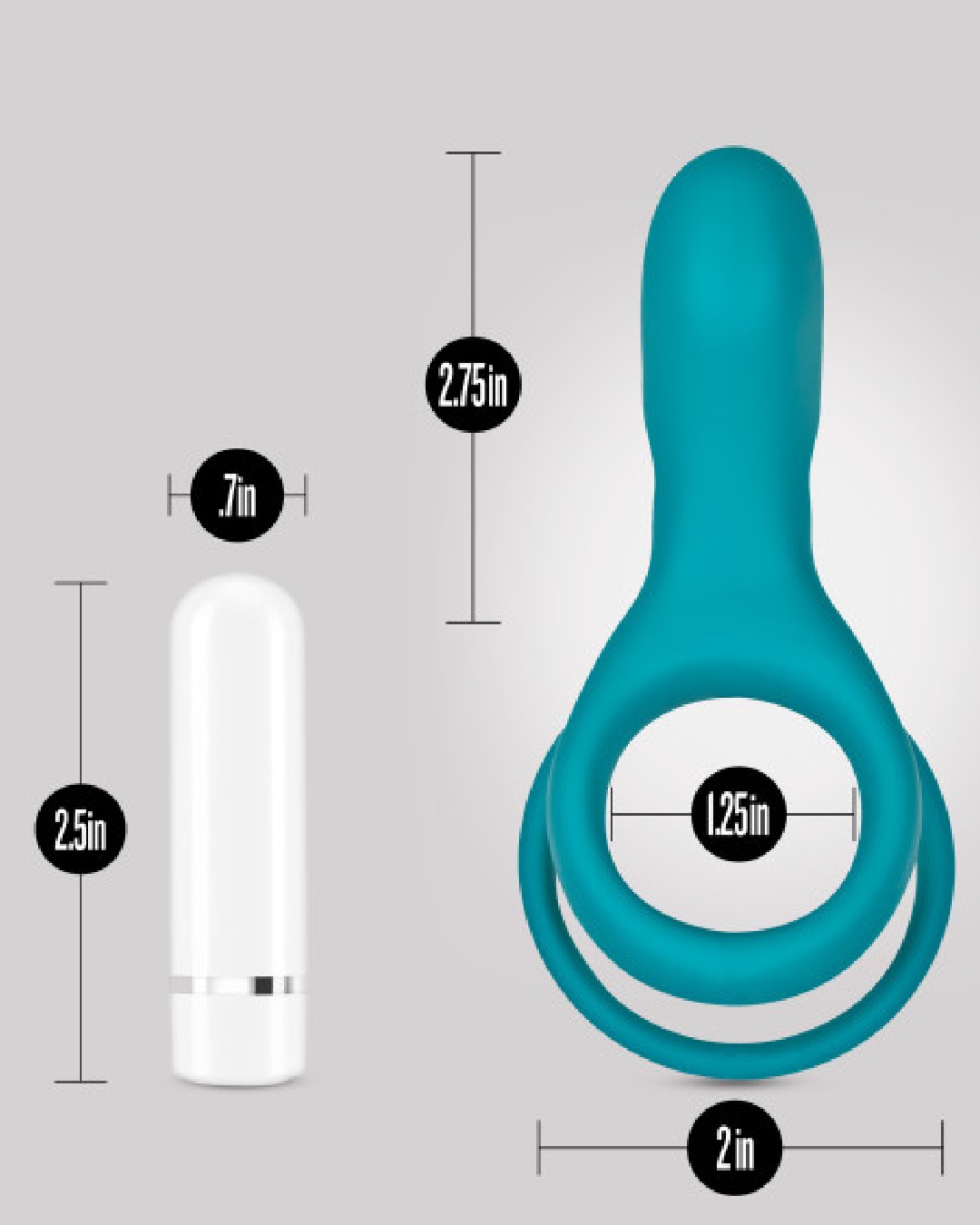 Noje C2 Rechargeable Silicone Cock Ring - Juniper