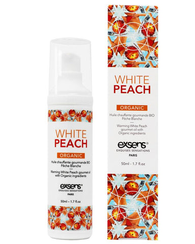 Exsens of Paris White Peach Warming Massage Oil 4 oz