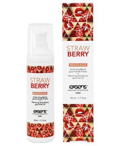 Exsens of Paris Strawberry Warming Massage Oil 1.7 oz