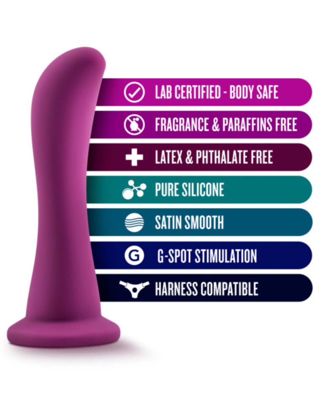 Temptasia Bellatrix 6.25 Inch G-Spot Dildo by Blush - Plum Purple