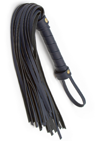Bondage Couture Vegan Leather Flogger - Blue