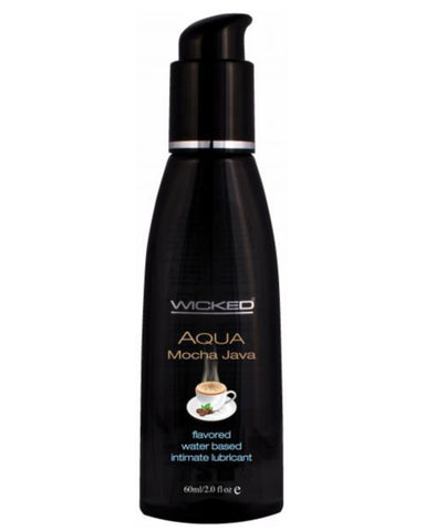 Wicked Aqua Mocha Java Flavored Water Based Lubricant 2oz