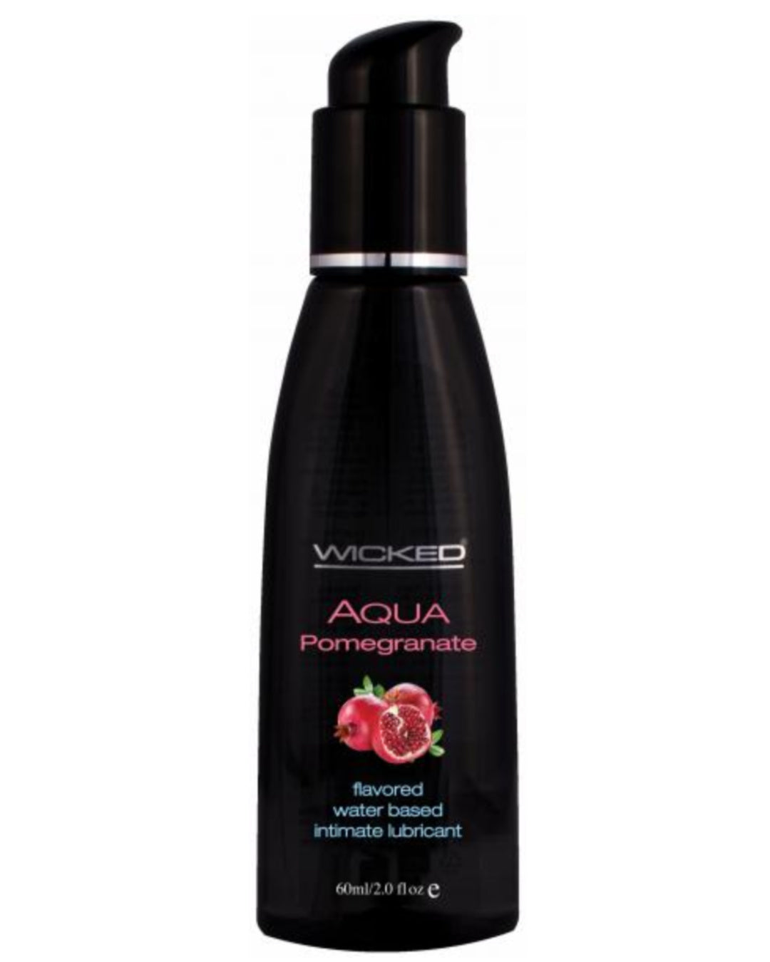 Wicked Aqua Pomegranate Flavored Water Based Lubricant 2oz