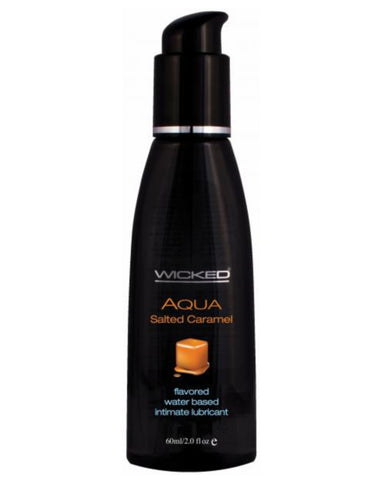 Wicked Aqua Salted Caramel Flavored Water Based Lubricant 2oz