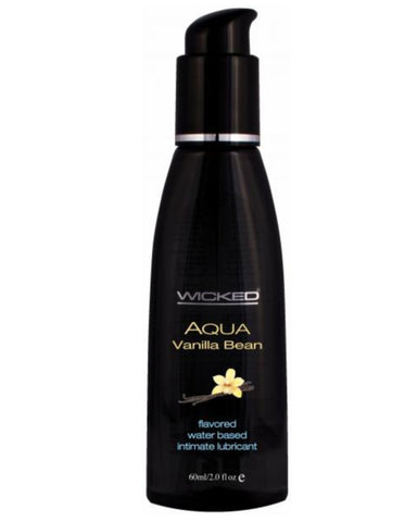 Wicked Aqua Vanilla Bean Flavored Water Based Lubricant 2oz