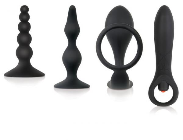 Intro To Prostate Kit 4 Piece Silicone - Black