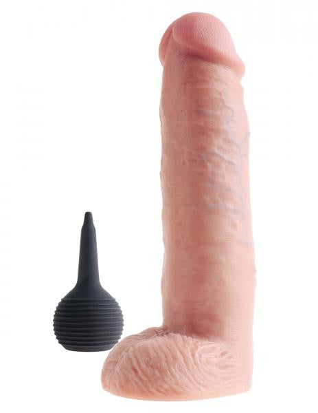 King Cock Squirting Dildo 10 Inches Beige
