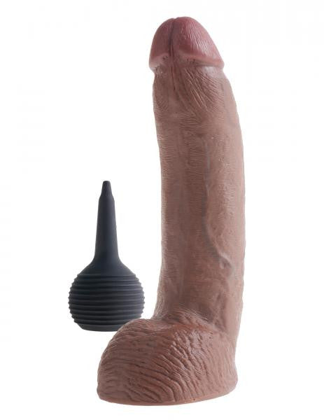King Cock Squirting Dildo 9 Inches Brown