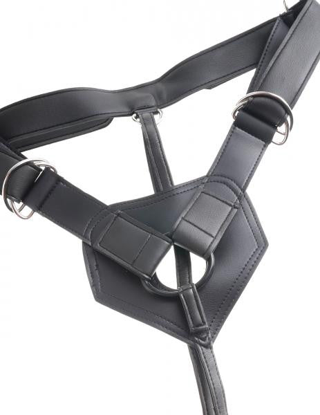 King Cock Strap On Harness with 9 inch Dildo Black harness alone