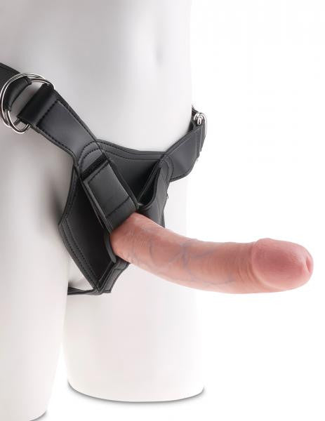 King Cock Strap On Harness with 8 inch Dildo Beige