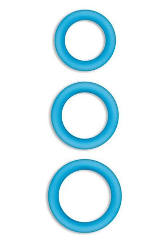 Firefly Halo Glow in the Dark Cock Rings by NS Novelties - Blue