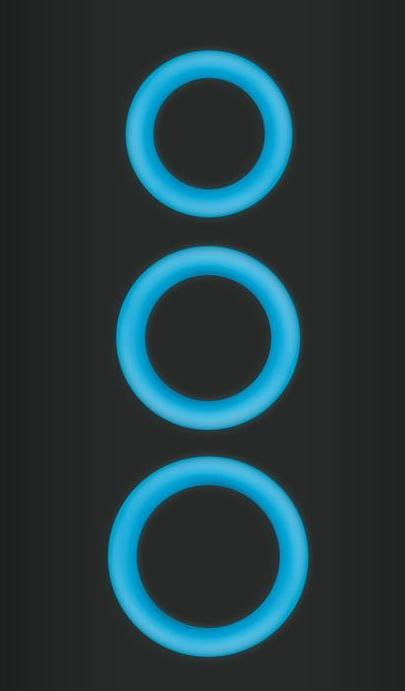 Firefly Halo Glow in the Dark Cock Rings by NS Novelties - Blue glowing