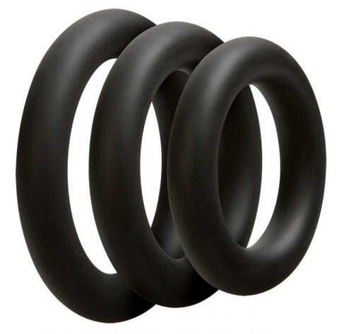 Optimale Set of 3 Thick Silicone Cock Rings