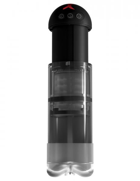 PDX Elite Extender Pro Vibrating Penis Pump by Pipedream side view