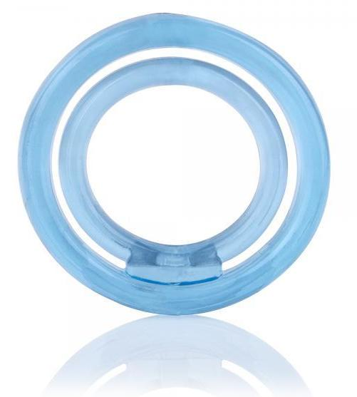 Screaming O Ringo 2 Ring with Ball Sling Silicone Cock Ring blue