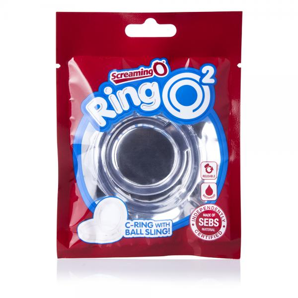Screaming O Ringo 2 Ring with Ball Sling Silicone Cock Ring clear packaging