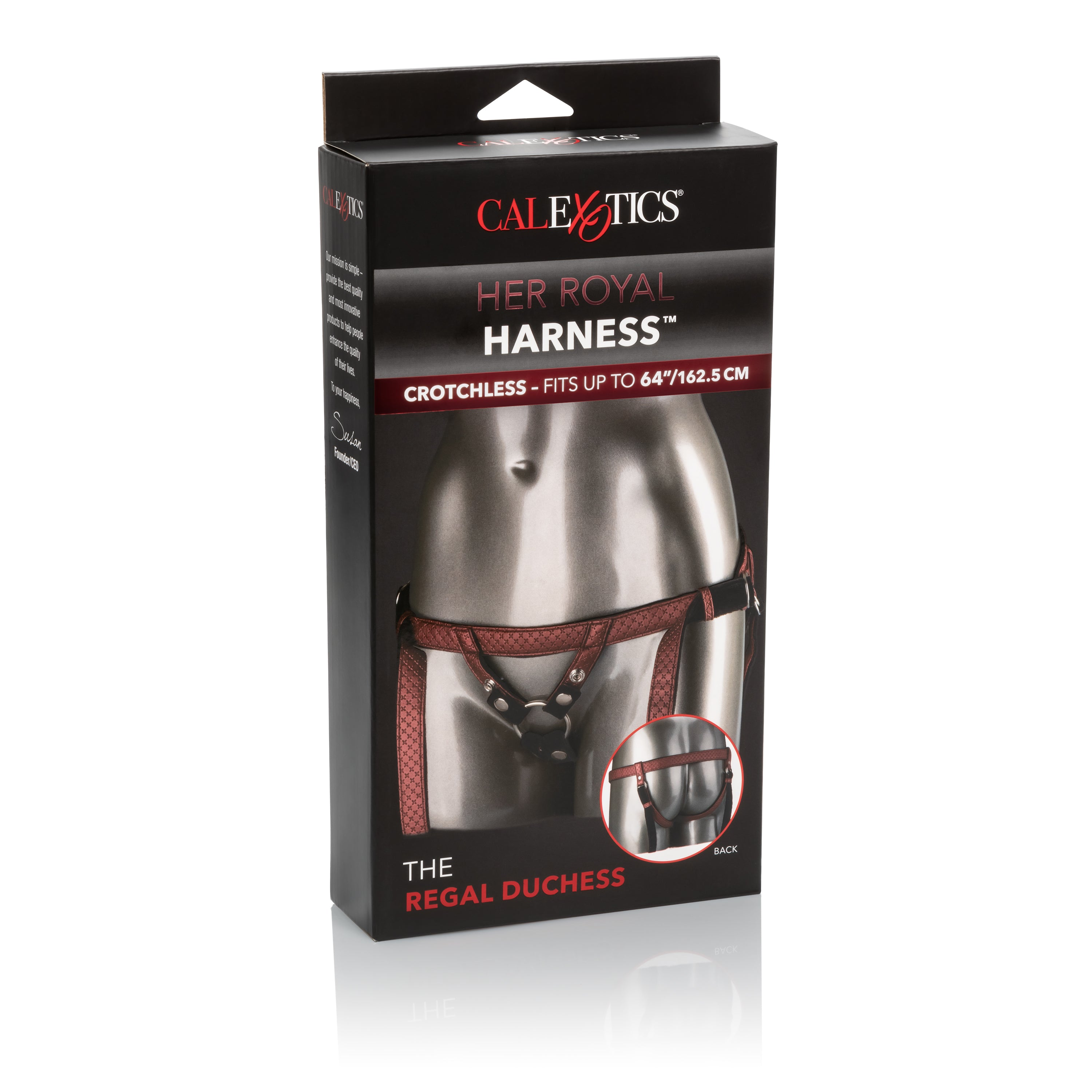 Her Royal Harness™ The Regal Duchess Strap-on Harness - Red box