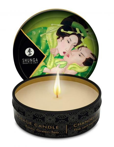 Shunga Erotic Massage Candle Green Tea