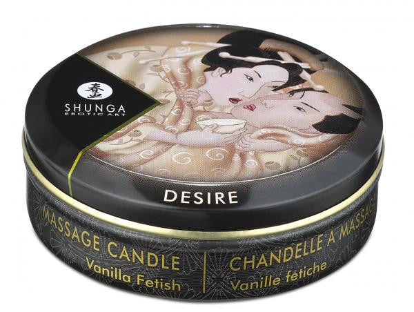 Shunga Erotic Massage Candle Vanilla tin