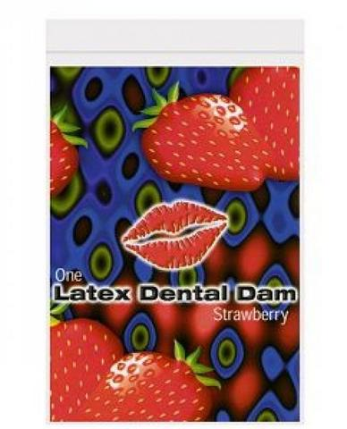 Trustex Latex Dental Dam - Strawberry