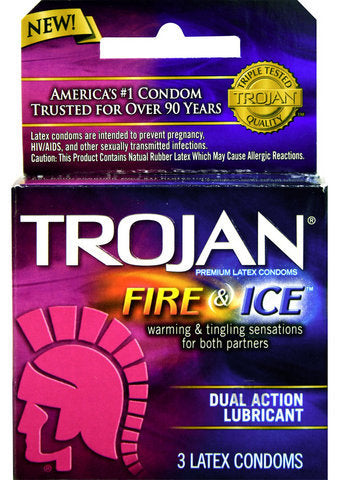Trojan Fire and Ice 3 Pack Heating & Tingling Latex Condoms