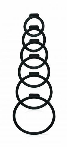 Tantus O Ring for Strap On Harnesses 6 Pack Assorted Sizes