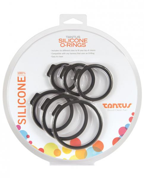 Tantus O Ring for Strap On Harnesses 6 Pack Assorted Sizes package
