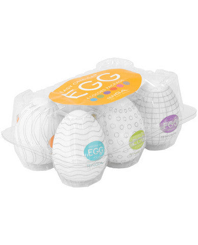 Tenga Egg Disposable Male Mastubation Sleeves - Variety Pack of 6