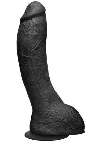 The Perfect P-Spot Cock Black 9 Inch Dildo - Kink by Doc Johnson