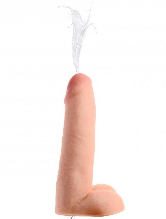 Loadz Realistic 8 Inch Squirting Dildo with Extra Large Load squirting