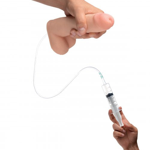 Loadz Realistic 8 Inch Squirting Dildo with Extra Large Load syringe