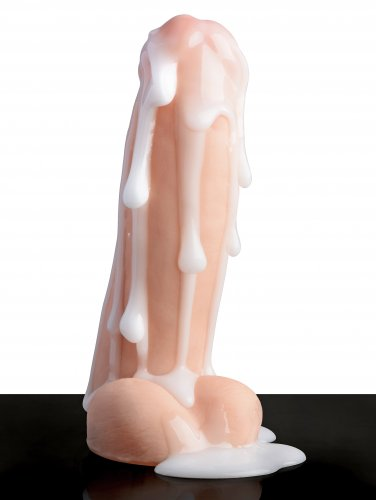Loadz Realistic 8 Inch Squirting Dildo with Extra Large Load cum covered