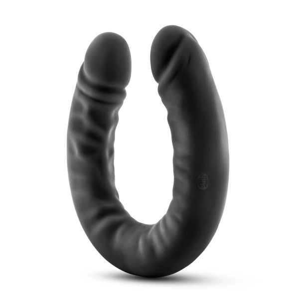 Ruse 18 inch Silicone Slim Double Dildo by Blush Novelties - Black side