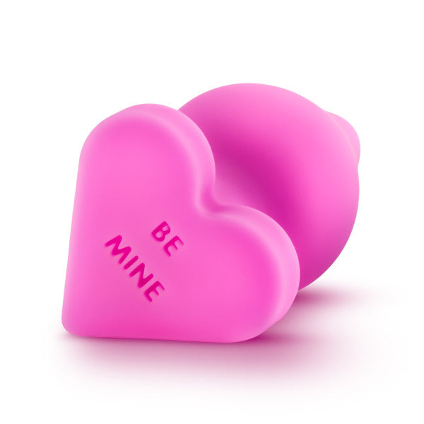 Naughty Candy Heart Butt Plug by Blush Novelties - Be Mine Pink bottom