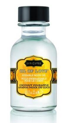 Kama Sutra Kissable Foreplay Oil Of Love .75 fluid ounce - Coconut Pineapple