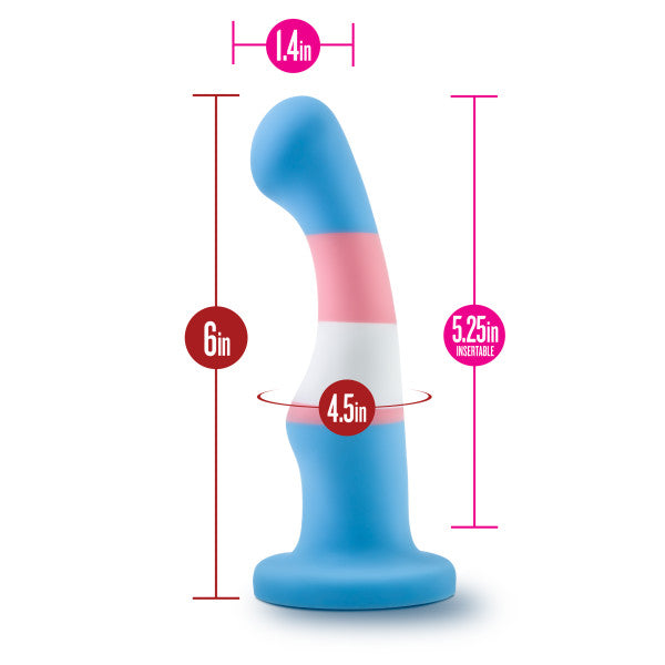 Avant Pride P2 True Blue Silicone Dildo by Blush Novelties size