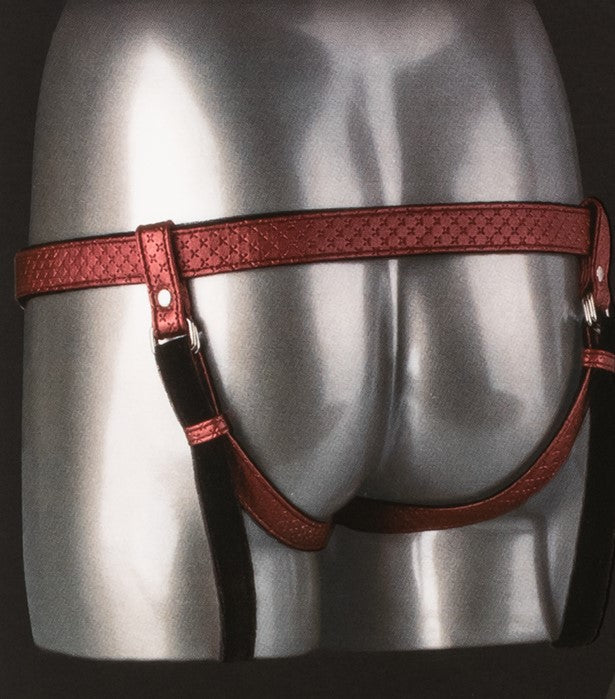 Her Royal Harness™ The Regal Duchess Strap-on Harness - Red back view