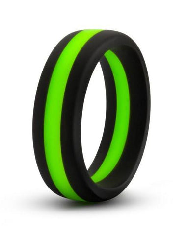 Performance Silicone Silicone Go Pro Cock Ring by Blush Novelties - Black & Green