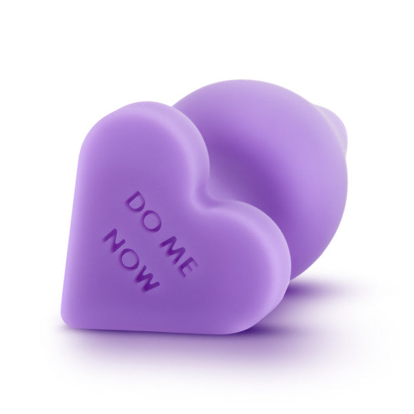 Naughty Candy Heart Butt Plug by Blush Novelties - Do Me Now Purple bottom