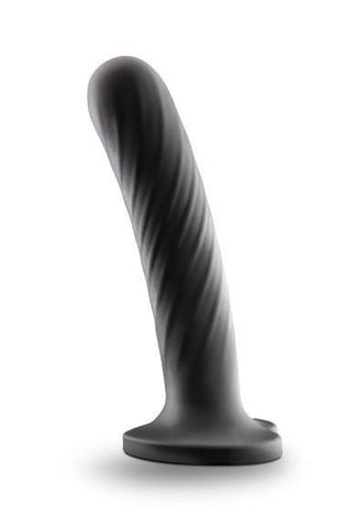 Temptasia Twist Large Silicone Dildo by Blush - Black