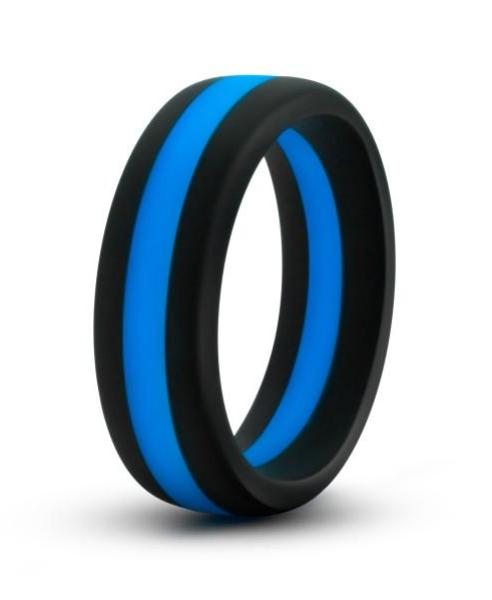 Performance Silicone Silicone Go Pro Cock Ring by Blush Novelties - Black & Blue