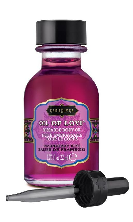 Kama Sutra Kissable Foreplay Oil Of Love .75 fluid ounce - Raspberry Kiss with dropper