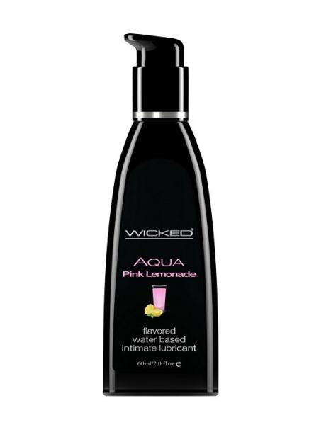 Wicked Aqua Pink Lemonade Flavored Water Based Lubricant 2 OZ