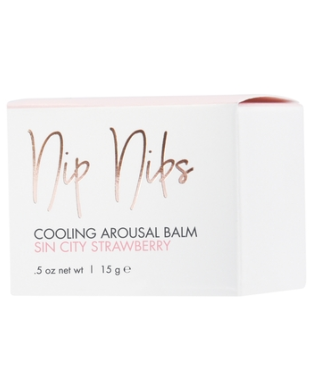 CG Nip Nibs Cooling Arousal Balm .5 oz - Sin City Strawberry box