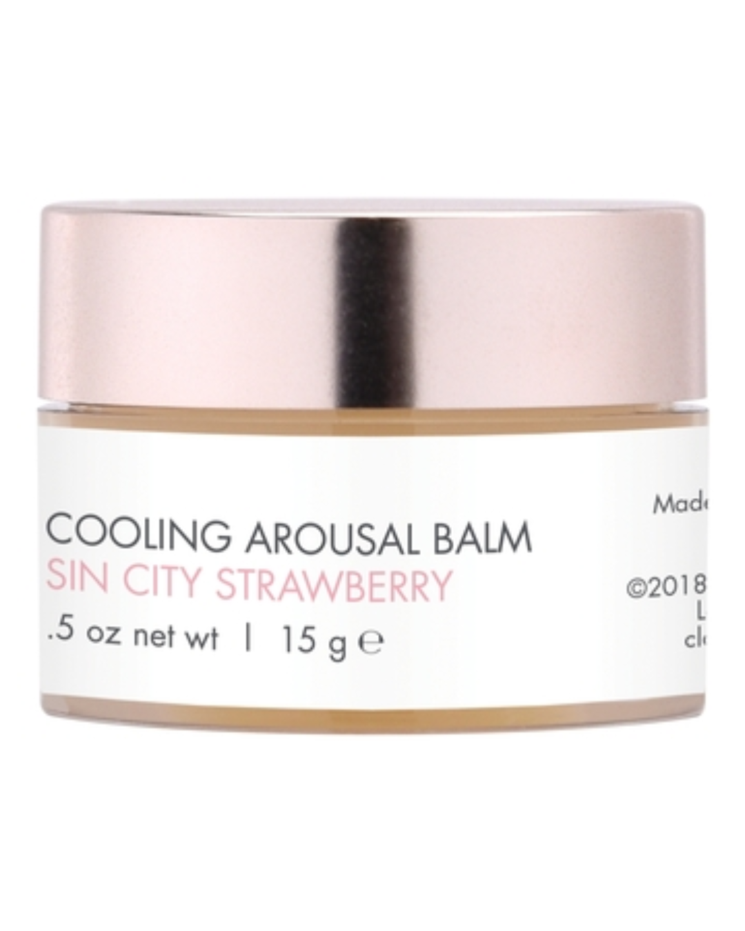 CG Nip Nibs Cooling Arousal Balm .5 oz - Sin City Strawberry bottle back