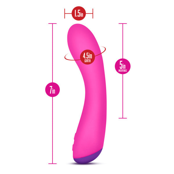 Aria Magnify Silicone G-Spot Vibrator by Blush Novelties measurements