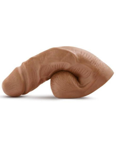 Performance Packer 5 Inch Packing Dildo by Blush - Mocha side view
