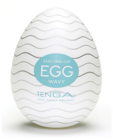 Tenga Egg Disposable Penis Masturbator - Wavy