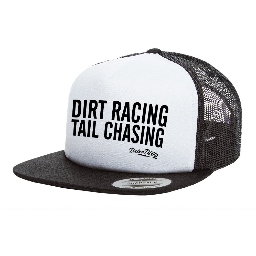 Vintage Foam Trucker Hat - Dirt Racing Tail Chasing