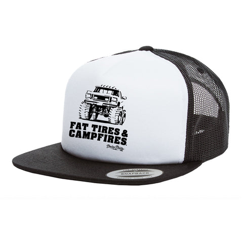 Vintage Foam Trucker Hat - Fat Tires and Campfires